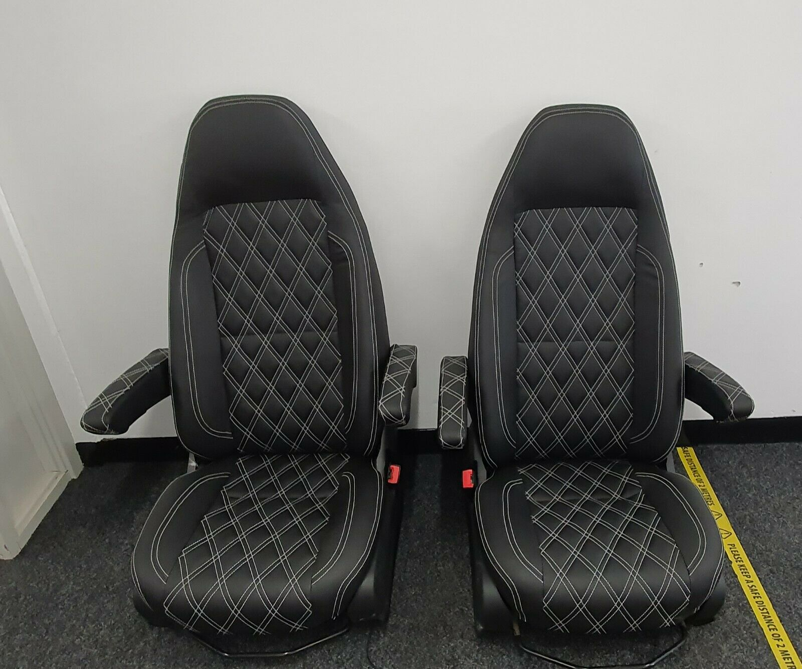 Modfied Mercedes Sprinter - VW Crafter Front Extra Comfort Driver And Passenger SEATS 2017.